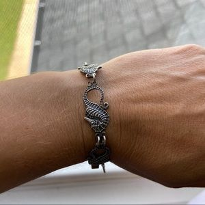Vintage sterling silver seahorse bracelet